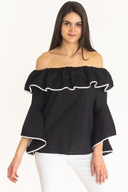 Camilla and Co Poplin off the shoulder top - Product Mini Image