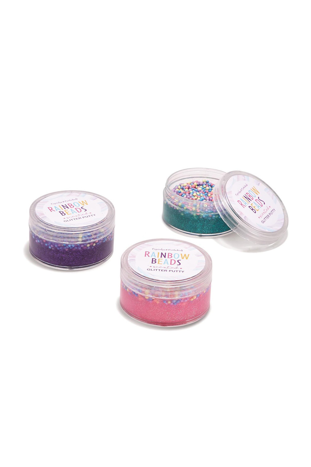Cupcake and Cartwheels Popping Rainbow Beads Scented Glitter Putty - Main Image