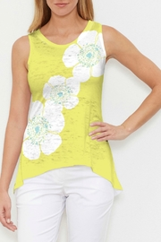 Whimsy Rose Poppy Chartreuse Hi-Low Tank - Product Mini Image