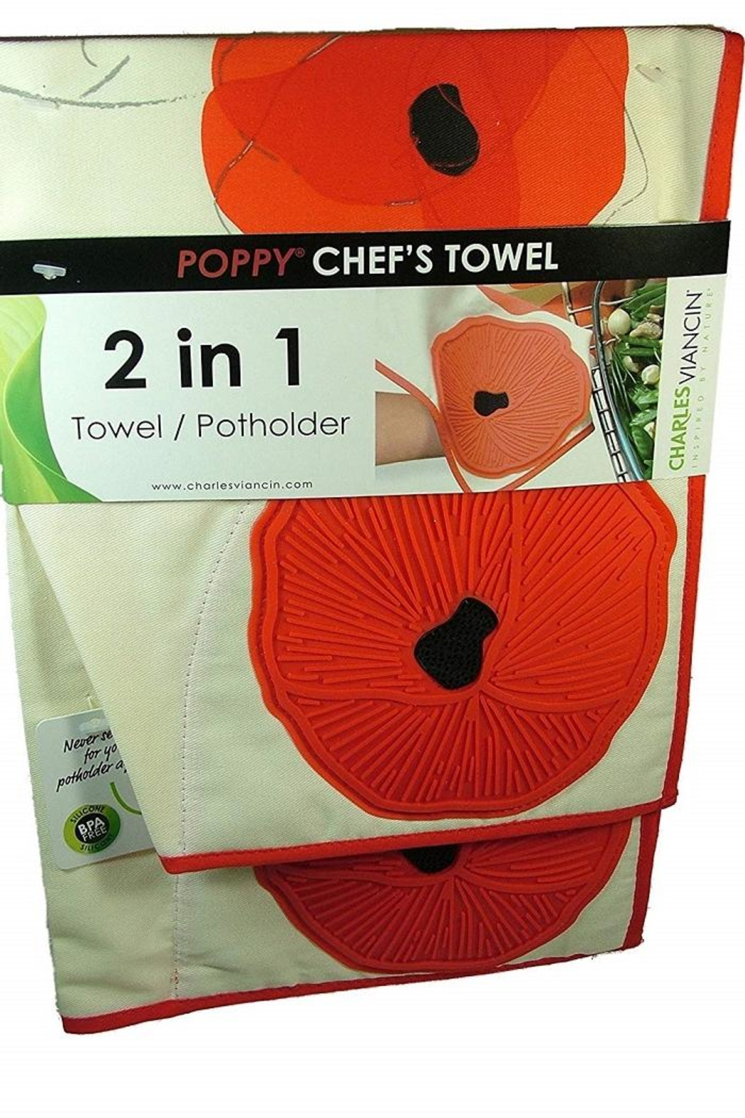 Charles Viancin Poppy Chef Towel - Front Full Image