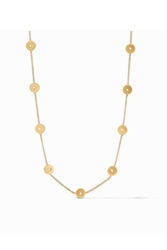Julie Vos Poppy Delicate Station Necklace-Gold/Pearl - Product List Image