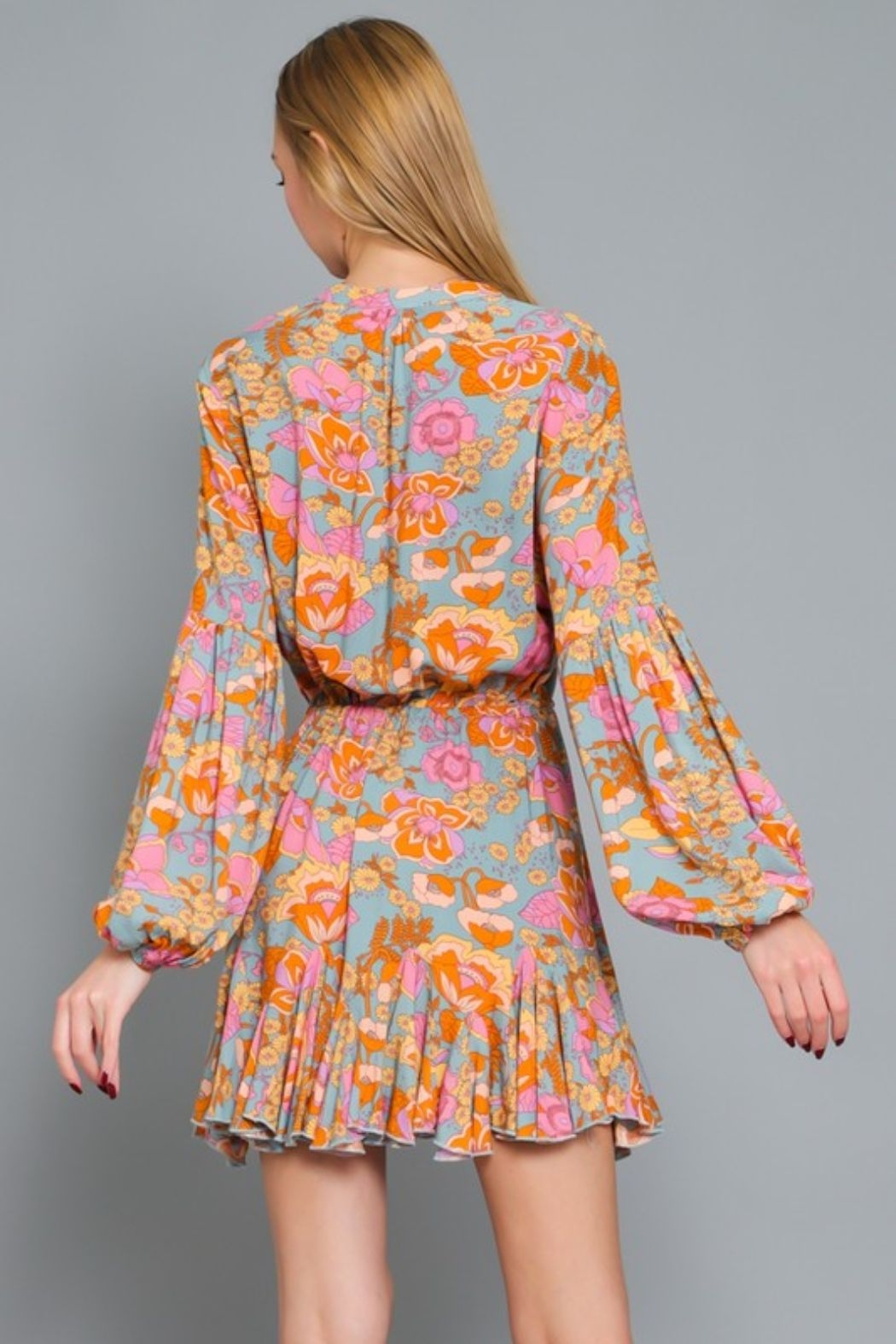 AAKAA Poppy Floral Dress - Side Cropped Image