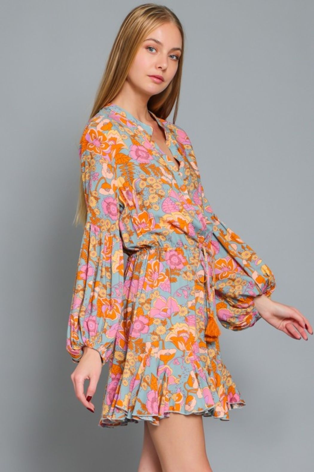 AAKAA Poppy Floral Dress - Front Full Image