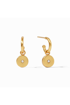 Julie Vos Poppy Hoop & Charm Earring-Gold/Pearl - Product List Image