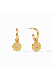 Julie Vos Poppy Hoop & Charm Earring-Gold/Pearl - Product Mini Image
