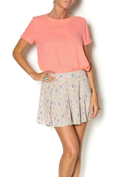 Poppy Lux Coral Queen Blouse - Product List Image