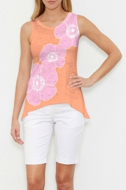 Whimsy Rose Poppy Orange Hi-Lo Tank - Front cropped