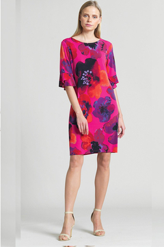 Clara Sunwoo Poppy Print Tulip Cuff Tie Back Dress - Product List Image