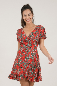 Shoptiques Product: Poppy Printed Wrap Dress