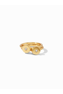 Shoptiques Product: Poppy Stacking Rings Gold-Pearl (Set Of 2) Size 7
