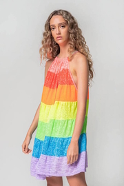 Pitusa Popsicle halter mini dress - Front cropped