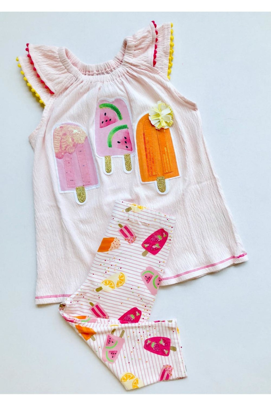 Mud Pie Popsicle Two-Piece Set - Front Cropped Image