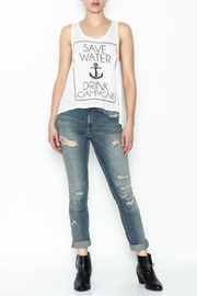 Popular Basics Drink Champagne Tank Top - Side cropped