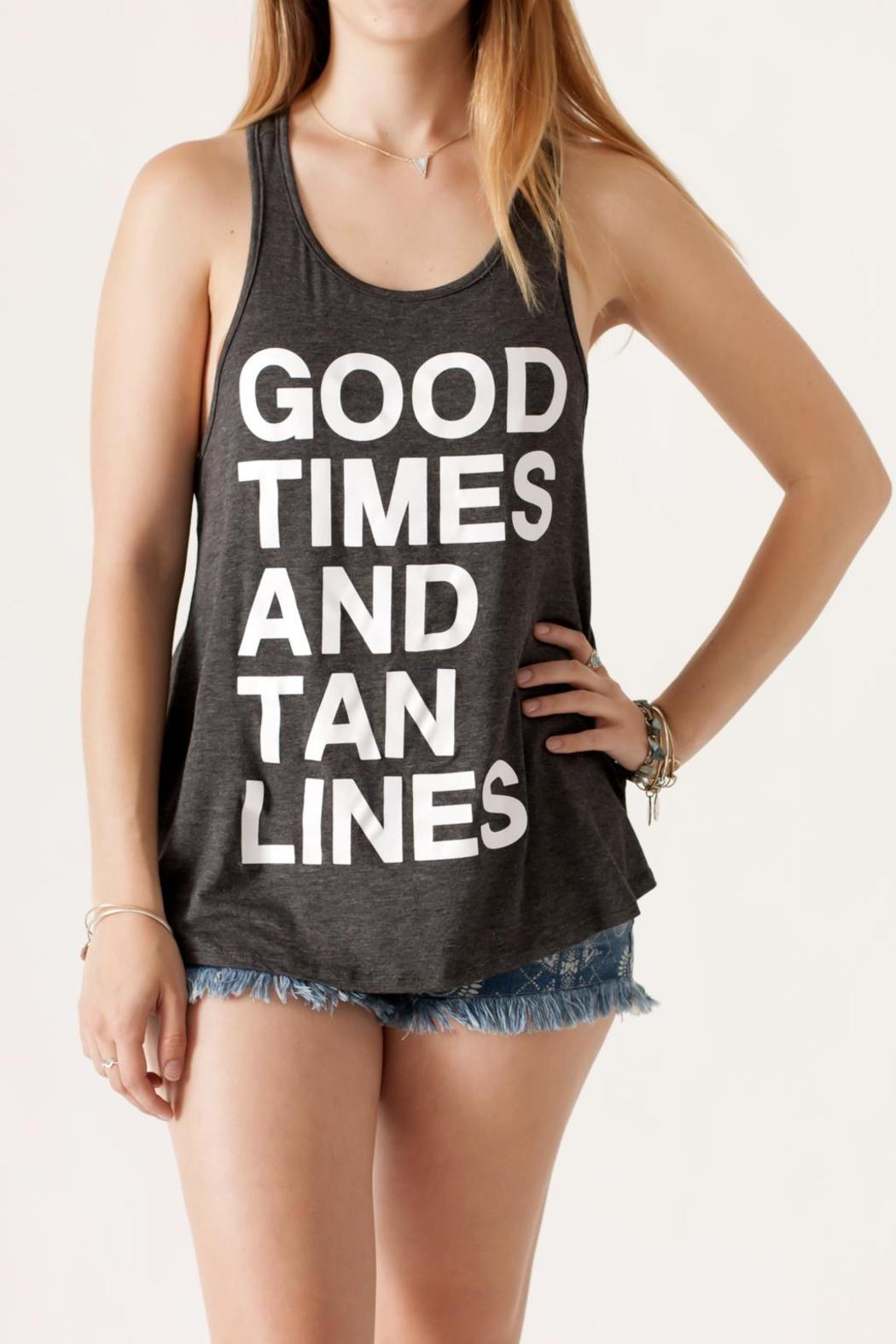 Popular Basics Good Times Tank - Front Cropped Image