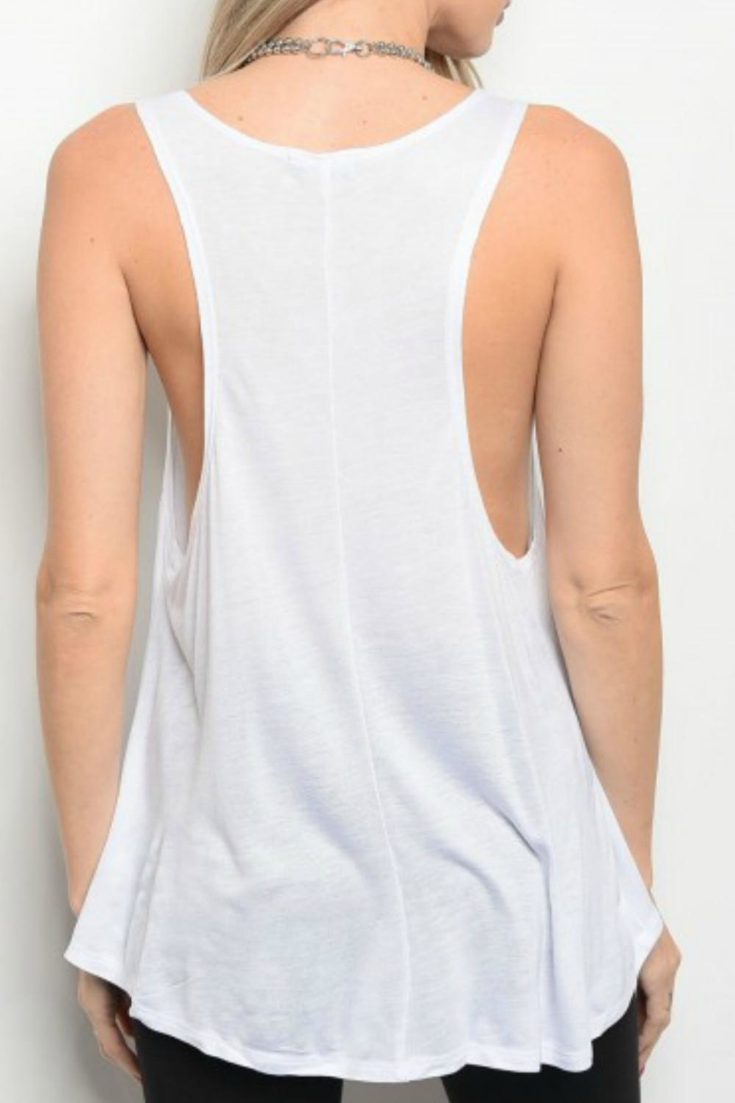 Popular Basics Sunday Funday Tank - Front Full Image