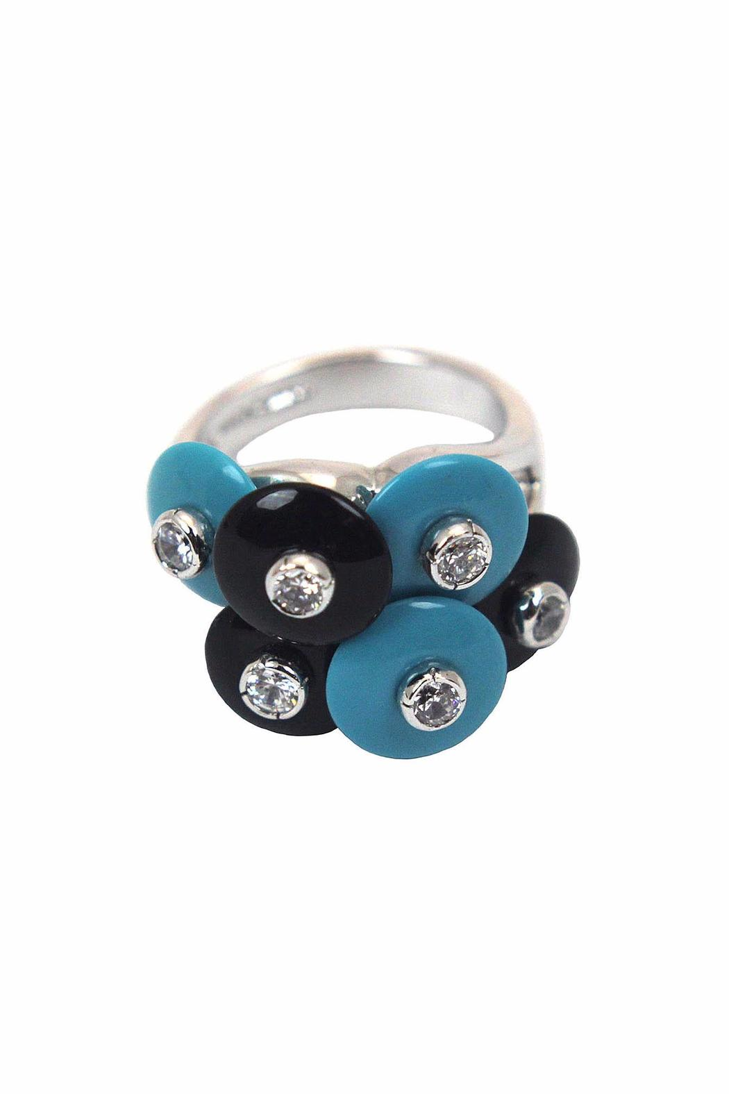 Popular Design, Inc. Turquoise & Onyx Ring - Main Image