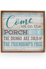 Giftcraft Inc.  Porch Framed Wall Sign - Product Mini Image