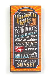 Giftcraft Inc.  Porch Rules SIgn - Product Mini Image