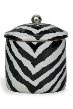 Shoptiques Product: Zebra Oval Canister