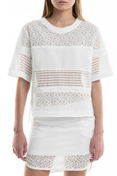 Portay Lace Grid Blouse - Product List Image