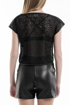 Portay Lace & Leather Top - Alternate List Image