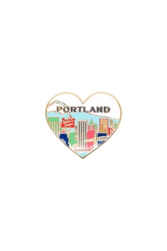 The Found Portland Heart Pin - Alternate List Image