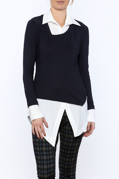 Porto Navy Layered Top - Product List Image
