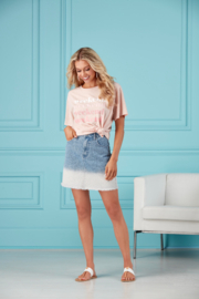 Mud Pie  Posie Denim Skirt - Front cropped