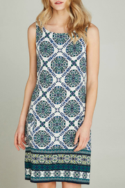 Apricot Positano Tole Print Shift Dress - Product Mini Image
