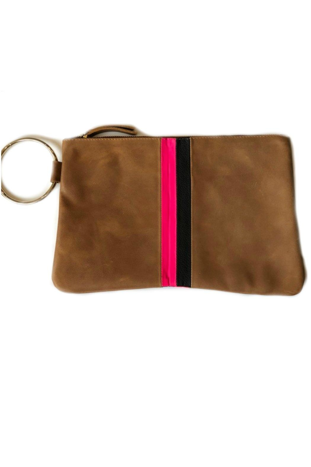 Positive Elements Gavi Leather Wristlet - Front Cropped Image