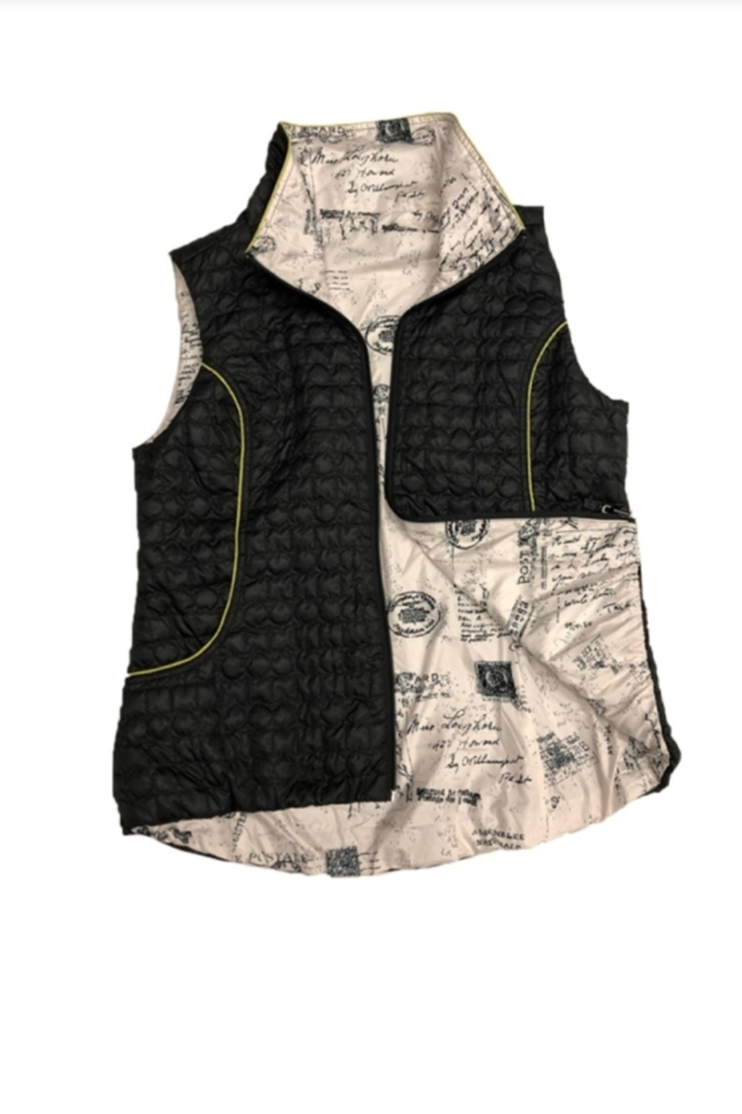 UBU Postcard Quilted Reversible Vest - Front Cropped Image