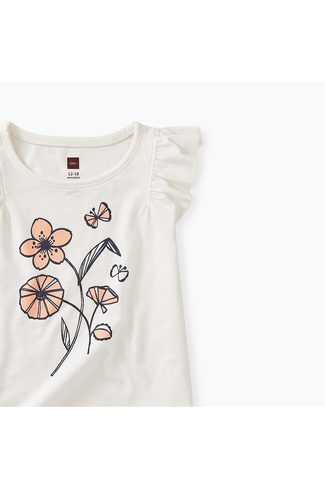 Tea Collection Posy Baby Graphic Tee - Front Full Image