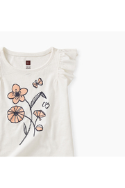 Tea Collection Posy Baby Graphic Tee - Front full body