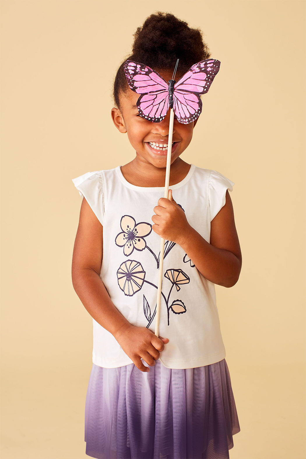 Tea Collection Posy Baby Graphic Tee - Side Cropped Image