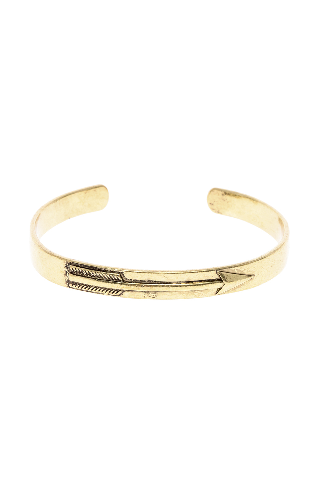 Potissi Arrow Embossed Cuff - Front Cropped Image
