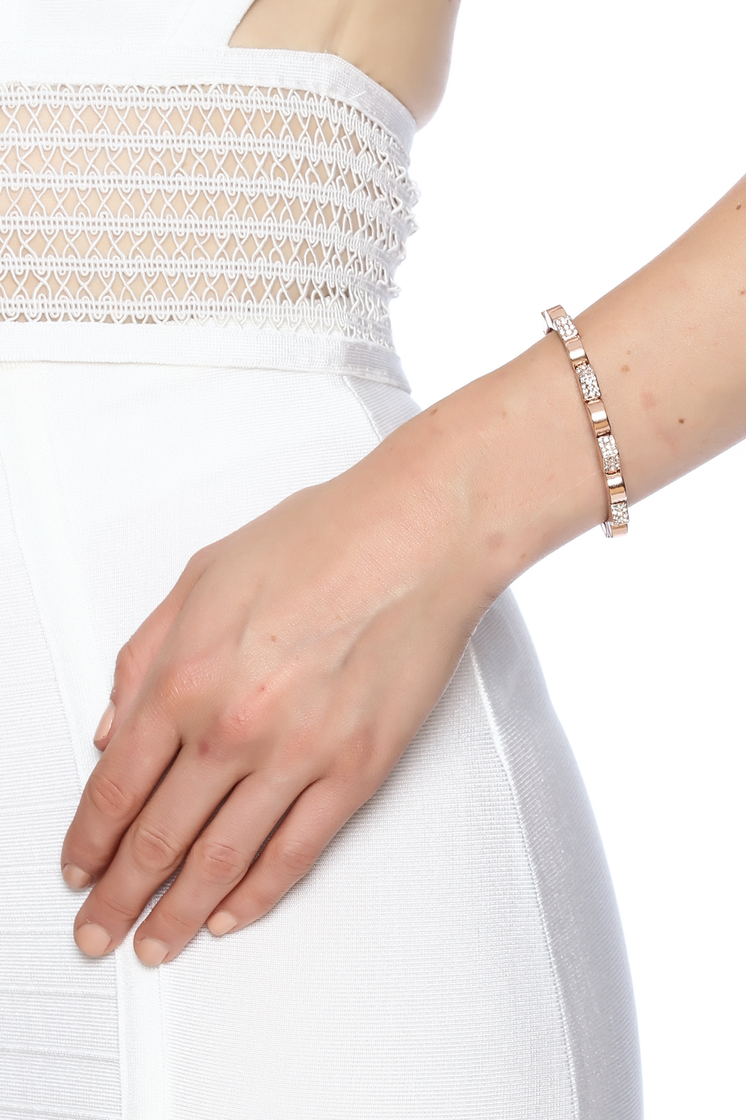 Potissi Crystal Spike Cuff - Back Cropped Image