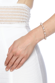 Potissi Crystal Spike Cuff - Back cropped