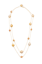 Potissi Marble Long Necklace - Front cropped