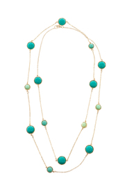 Potissi Green Marble Long Necklace - Product Mini Image