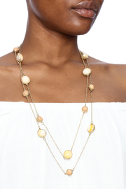 Potissi Marble Long Necklace - Back cropped