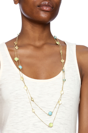 Potissi Mixed Discs Necklace - Back cropped
