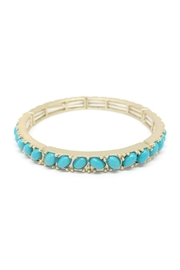 Potissi Oval Stone Bangle - Front cropped