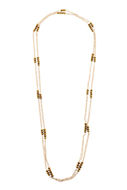 Potissi Shimmering Glass Necklace - Front cropped