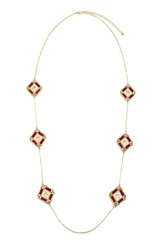 Potissi Siam Red Bead Necklace - Product Mini Image