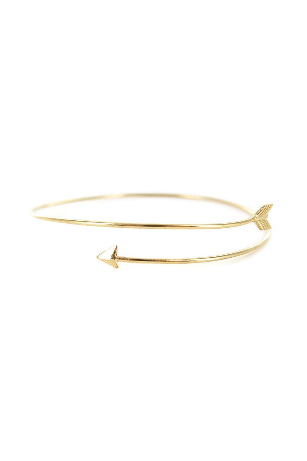 Potissi Thin Arrow Bangle - Front Cropped Image