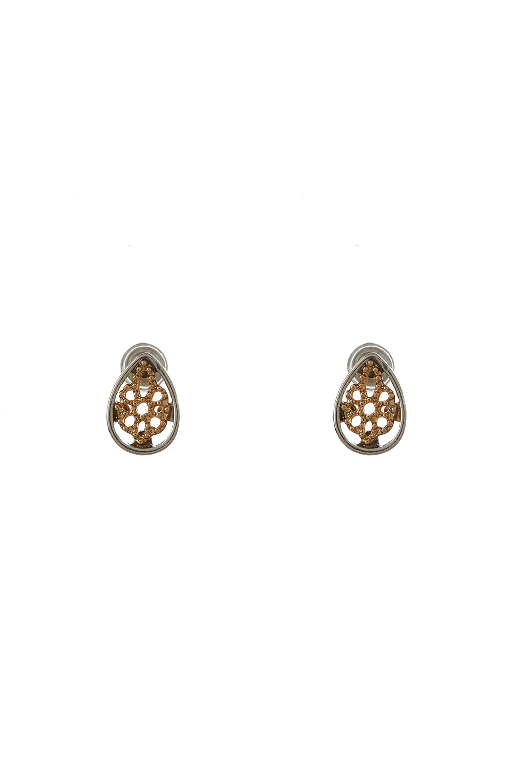 Potissi Tiny Teardrop Earrings - Front Cropped Image