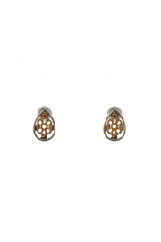 Potissi Tiny Teardrop Earrings - Front cropped
