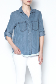 Potter's Pot Denim Fray Top - Product Mini Image