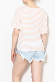 Potter's Pot Peach Stripe Knit - Back cropped
