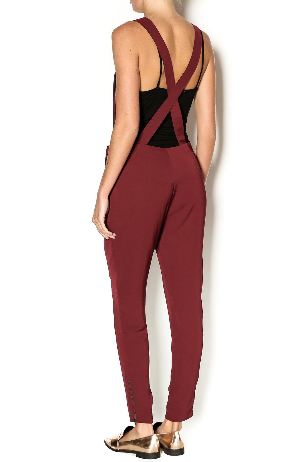 Potter's Pot Red Silk Overalls - Back Cropped Image